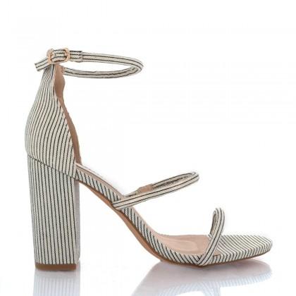 Black/White Stripe  by Billini Shoes