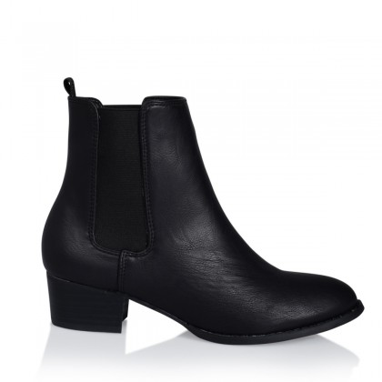 Black Burnished Boots by Billini Shoes