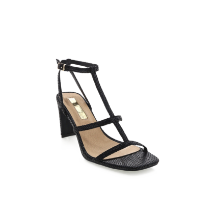 Simona - Black Reptile by Billini Shoes