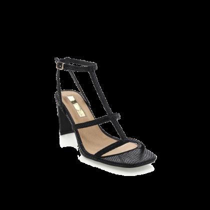 Simona - Black Reptile by Billini Shoes