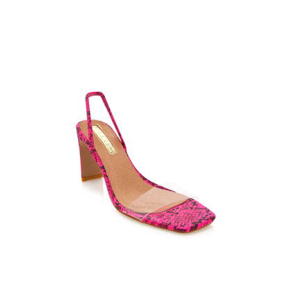 Sirela - Neon Pink Snake by Billini Shoes