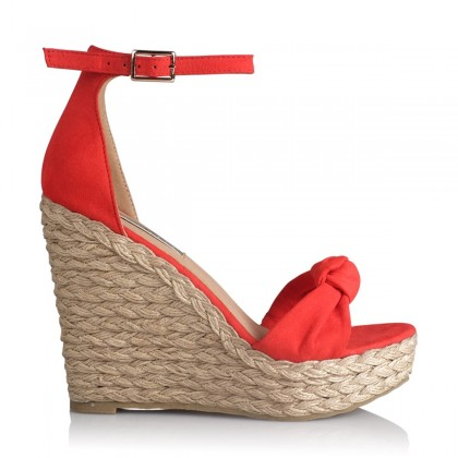 Skala Red Suede by Billini Shoes
