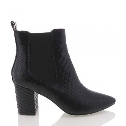 Vago Black Shine Snake by Billini Shoes