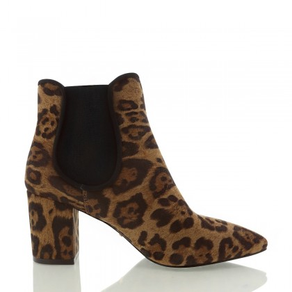 Voltaire Camel Leopard by Billini Shoes