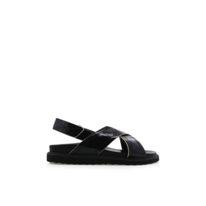Zena - Black Crinkle Patent by Billini Shoes