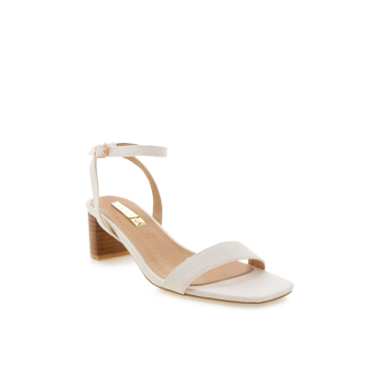 Zuri - White Linen by Billini Shoes
