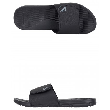 Mens Shoreline Nubuck Slides Black Black Brown