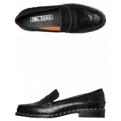 Womens Lloyd Loafer Black Croc