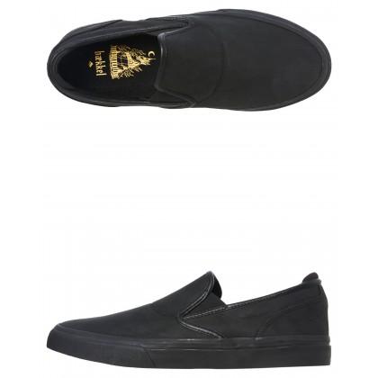 Wino G6 Suede Slip On Shoe Black