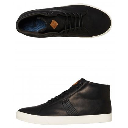 Ridge Mid Lux Hi Leather Shoe Black Natural