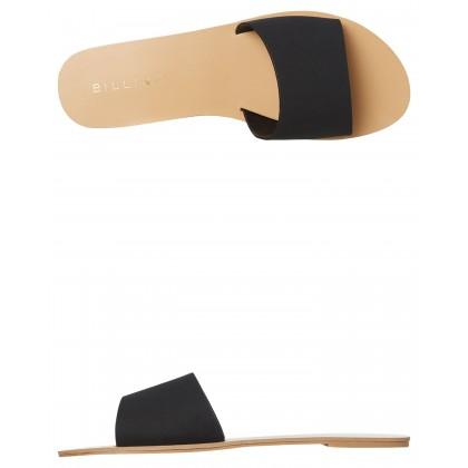 Womens Crete Slide Black Nubuck By BILLINI