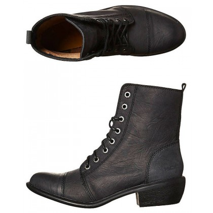 Territory Leather Boot Black Oily