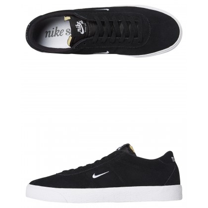 Sb Zoom Bruin Ultra Suede Light Shoe Black White