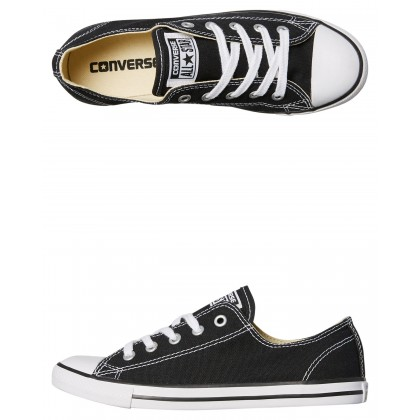 Chuck Taylor Womens All Star Dainty Lo Shoe Black By CONVERSE