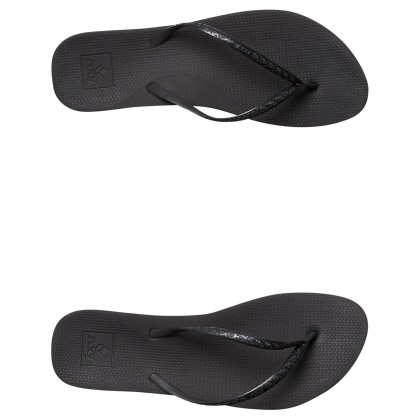 Womens Escape Lux Thong Black By REEF
