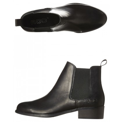 Vespa Leather Boot Black