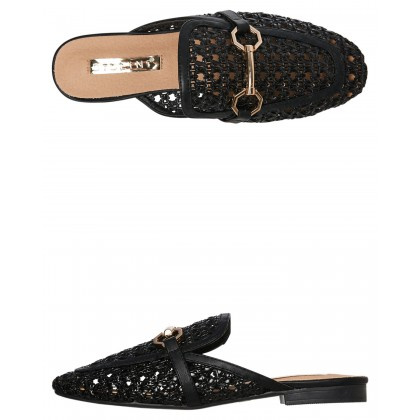 Womens Odie Woven Loafer Black Woven