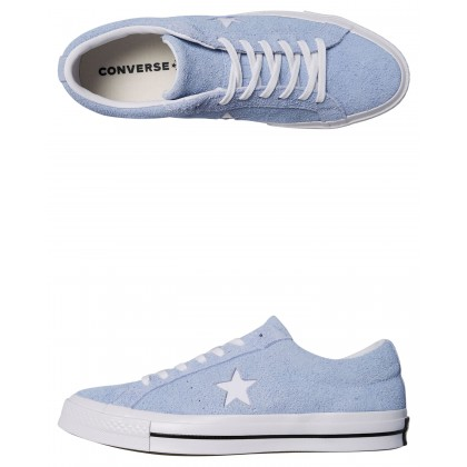 Mens One Star Suede Shoe Blue Chill By CONVERSE