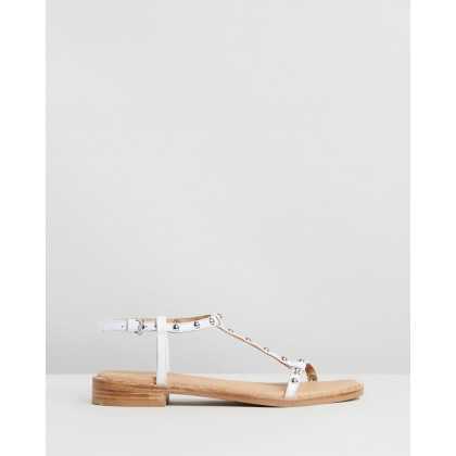 Leather Sandals White by Bronx