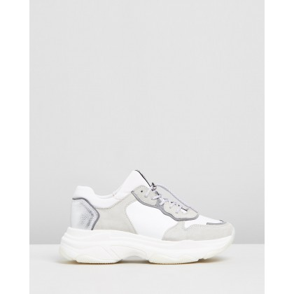 Baisley Leather Sneakers White by Bronx