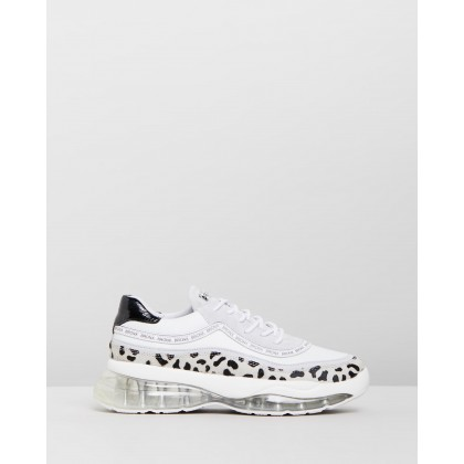 Bubbly Chunky Sneakers Dalmatian, White & Black by Bronx