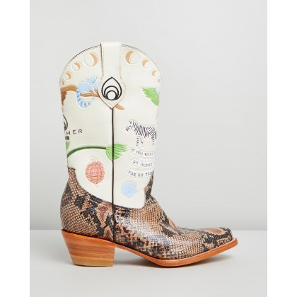 Doodle Boots Cream by Brother Vellies