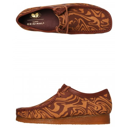 Mens Wu Tang Wallabee Lo Shoe Brown Multi