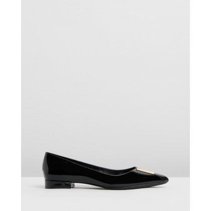 Arline Black Patent by Calvin Klein