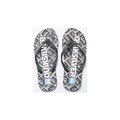 Cop Out Thongs in Black/White/Blue by Quiksilver