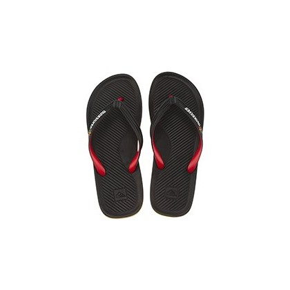 Thongs in Black/Red/Green by Quiksilver