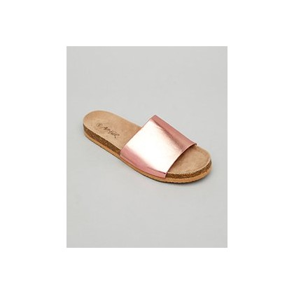 Corked Sandals in Rose Gold by Ava And Ever