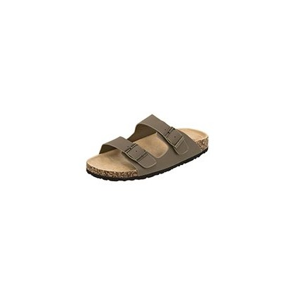 Cortina Slide Sandals in Biscuit by Ava And Ever