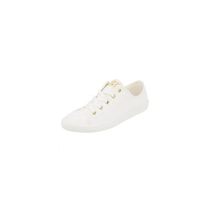 Womens Chuck Taylor Dainty Shoes in Egret/Gold by Converse