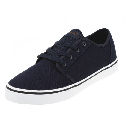 "Mens Imperial Shoes in ""Navy Twill/Brown Lthr""  by Jacks"