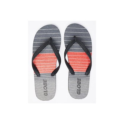 Aggro Thongs in Grey/Red/Black by Globe