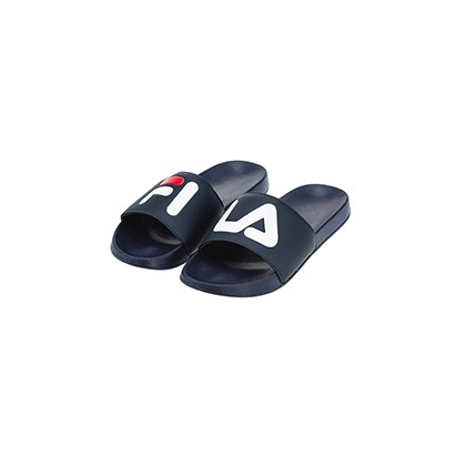 Word Slides in Navy by Fila