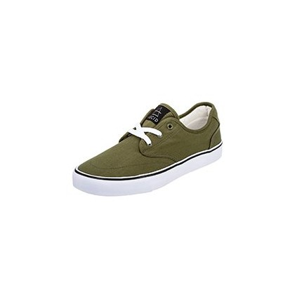 Geomet Shoes in Olive/White by Lucid