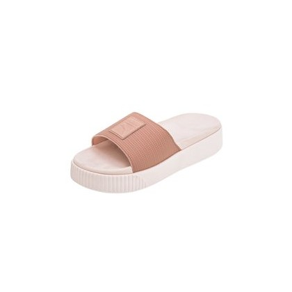 Platform Slides in Peach by Puma