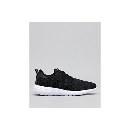 Bristol Shoes in Black/Grey Knit by Lucid