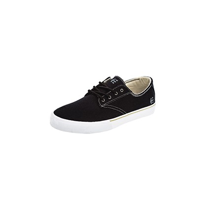 Jameson Vulc Shoes in Black/White/Grey by Etnies
