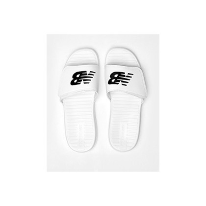 "Sdl006v1 Slides in ""White/Black""  by New Balance"