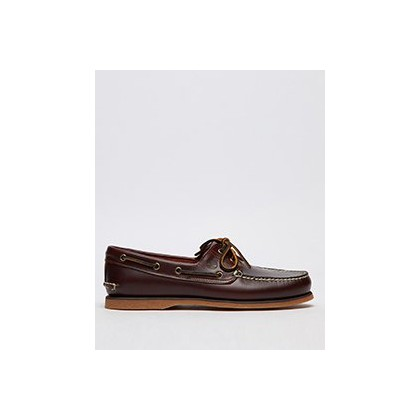 2 Eye Boat Shoes in Medium Brown Full-Grain by Timberland
