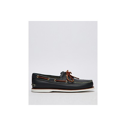 "2 Eye Boat Shoes in ""Medium Blue Full-Grain""  by Timberland"