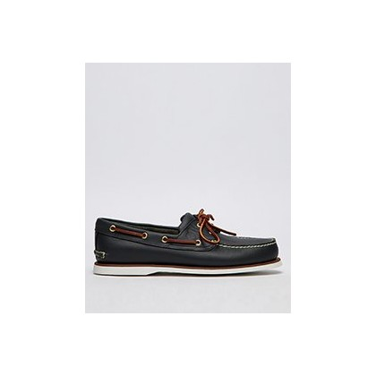 2 Eye Boat Shoes in Medium Blue Full-Grain by Timberland
