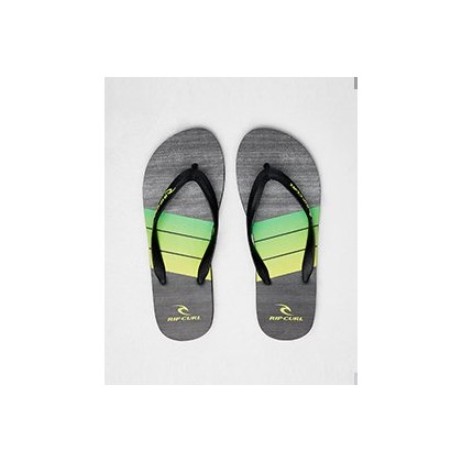Futures Thongs in Black/Lime by Rip Curl