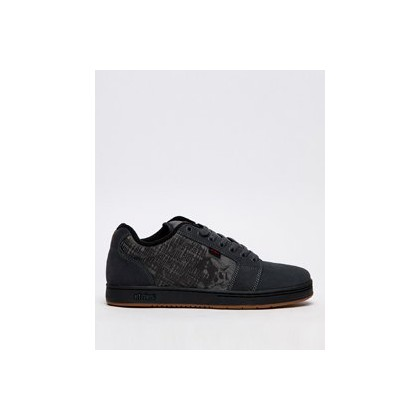 Barge XL Mulisha Shoes in Dark Grey/Black/Red by Etnies
