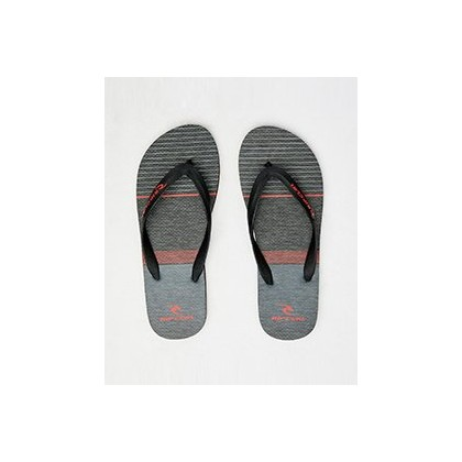 Driven Thongs in Black/Red by Rip Curl