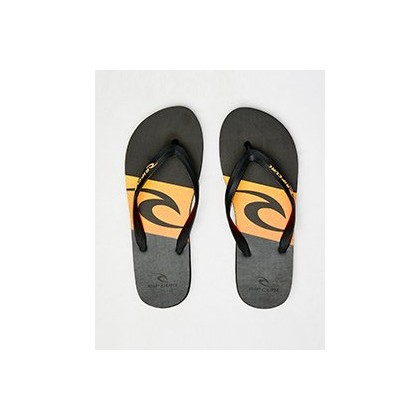 Flyer Thongs in Black/Orange by Rip Curl