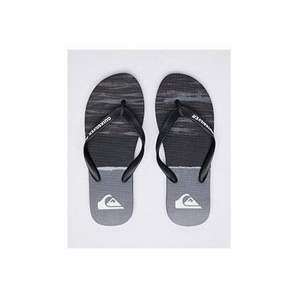 Molokai Omni Arch Thongs in Black/Grey/Red by Quiksilver