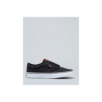 Atwood Shoes in (Check Jacquard) Black/Wh by Vans